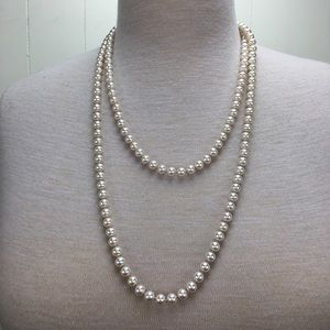 """Vintage 54"""" Knotted Glass Bead Necklace"""